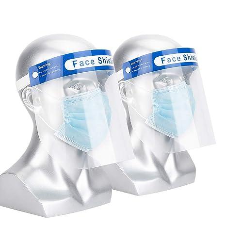 Visera Protectora,Protectores Faciales de Seguridad,Protector Facial Antiniebla Contra Salpicaduras de Aceite y Saliva(2 Pcs): Amazon.es: Industria, empresas y ciencia