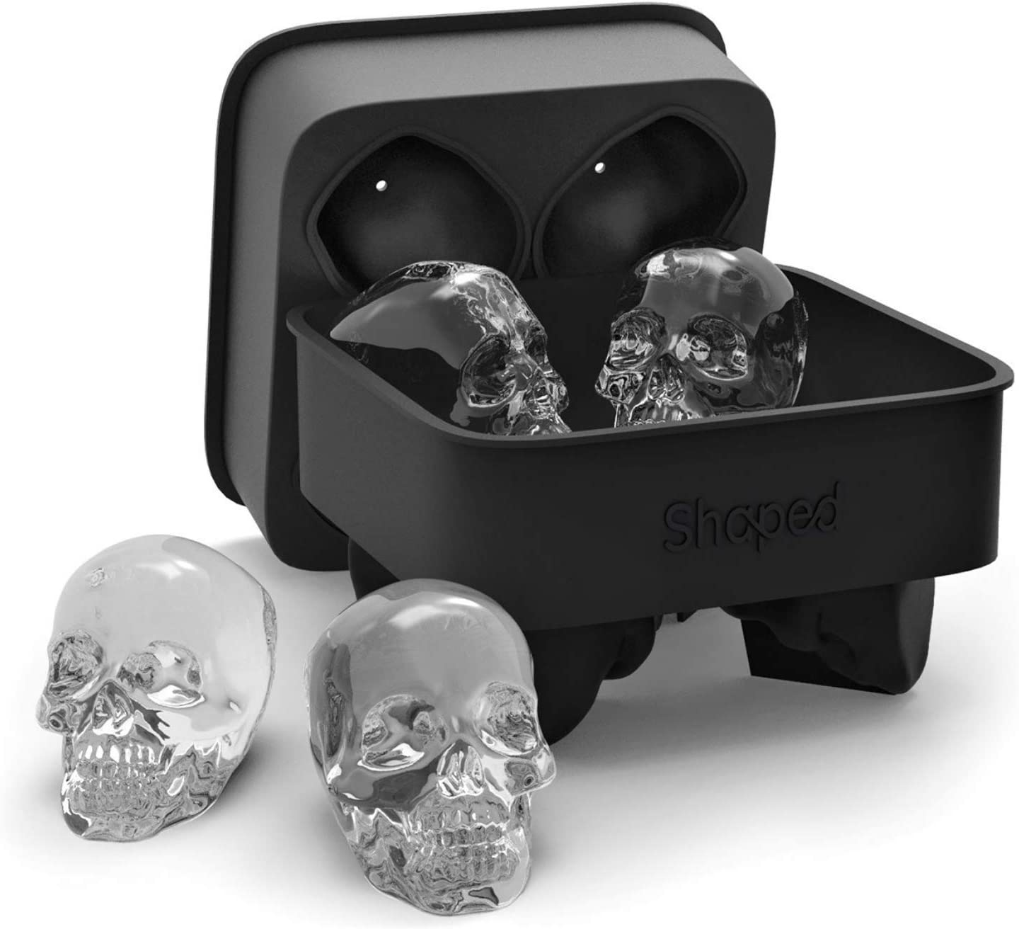 3D Skull Flexible Silicone Ice Cube Mold
