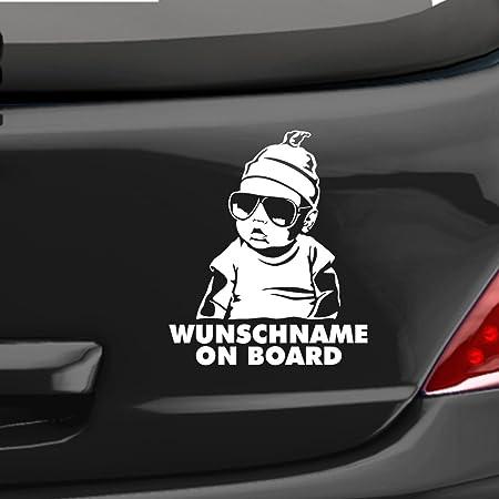 1x Aufkleber WUNSCHNAME ON BOARD Sticker Hangover Baby Auto Kind fährt mit FUNb0