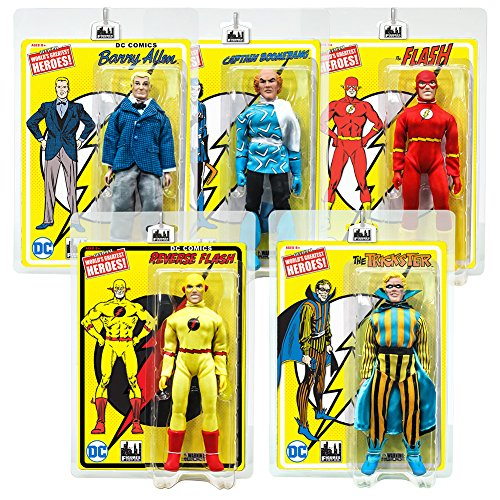 Flash Retro 8 Inch Action Figures Series 1: Set of all - Flash Retro