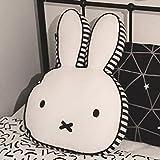 Finebaby Cartoon Rabbit Decorative Pillow Baby Appease Toys Cotton Fabric Sofa Back Cushion Cute Throw Pillow,15.7''x 10.6''