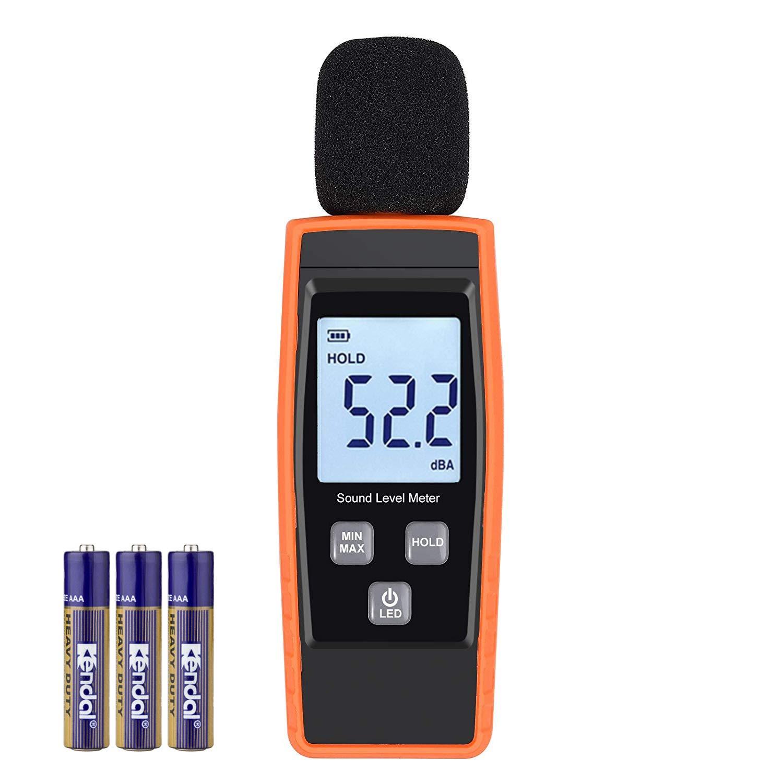 meearo decibel meter, digital sound level meter 30 130 db audiomeearo decibel meter, digital sound level meter 30 130 db audio noise measure device volume measuring instrument self calibrated decibel monitoring tester