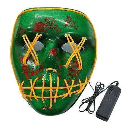 PROKTH Mascaras de Halloween Mascara led Hombre Disfraz la Purga Mujer Mascaras de la Purga Terror