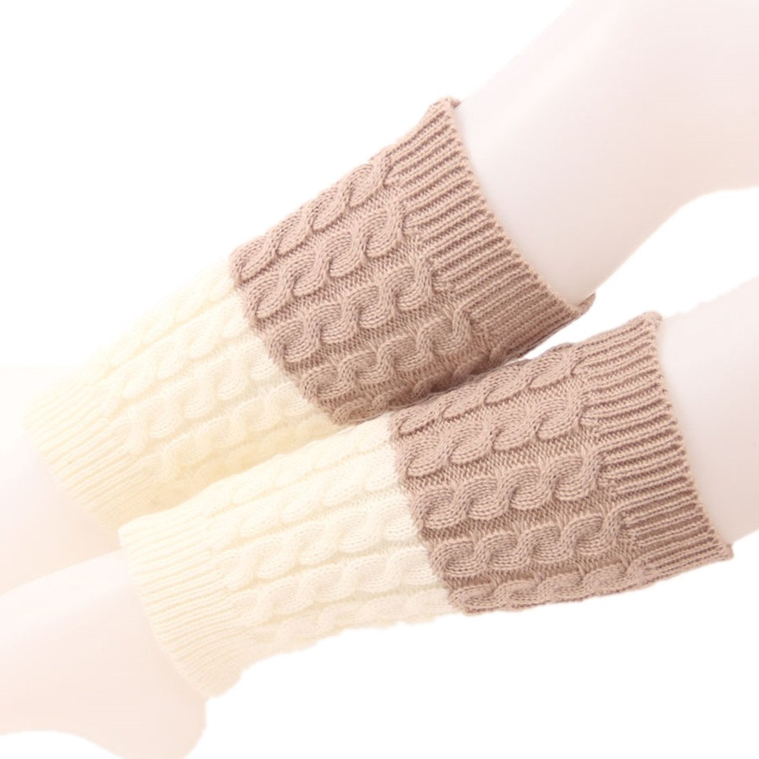 Spring fever Women's Double Sided Knit Boot Socks Topper Cuffs Leg Warmers MNS0124A10FS