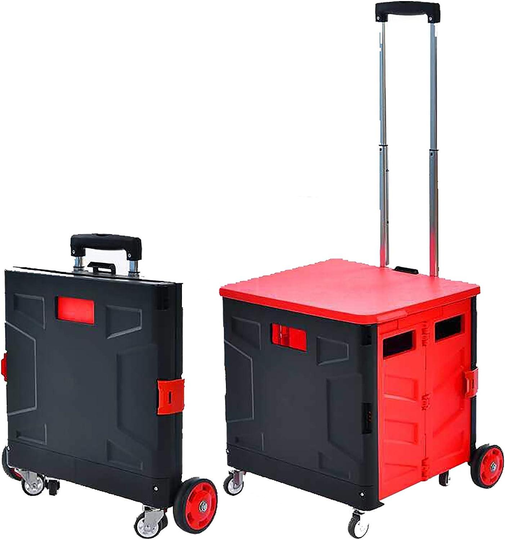 Via Compras Almacenamiento plegable durable caja Organizador del tronco de coche for el almacenamiento de la familia Doble Rueda dise/ño Bins Cubo de almacenamiento Tronco Organizador for el coche