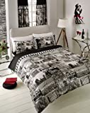 My GN. BUMPER DUVET COVER WITH PILLOW CASE QUILT COVER HOLLYWOOD +SHEET + CURTAINS (Double)