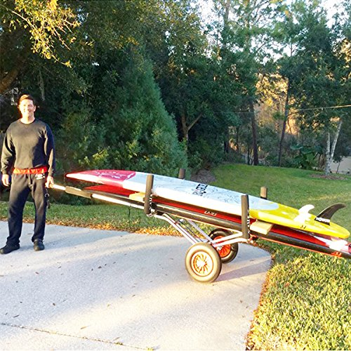 The SUP Commander - Stand up Paddle board Cart SUP Trailer and carrier Kayak Cart Carrier. Transports multiple boards Kayak cart Paddle board Cart Beach Cart