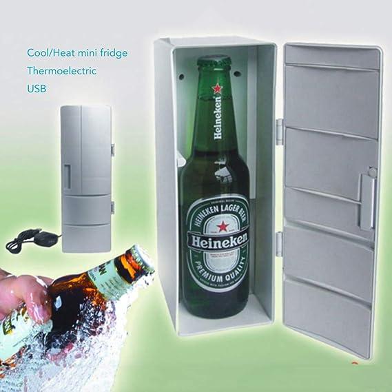 ahanzhu USB Nevera Portátil Mini Nevera Congelador Bebidas Cerveza ...