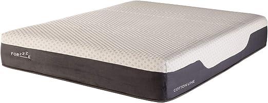 FORZZZE - Colchón Cotton 105x190, Algodón 100% Natural, viscoelástica de Soja perfilada, 26 cm de Altura, firmeza Media, Fabricado en España.: Amazon.es: Hogar