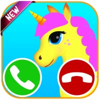 unicorn fake call game - Free fake phone call and fake text message for kids - PRANK FOR KIDS 2019