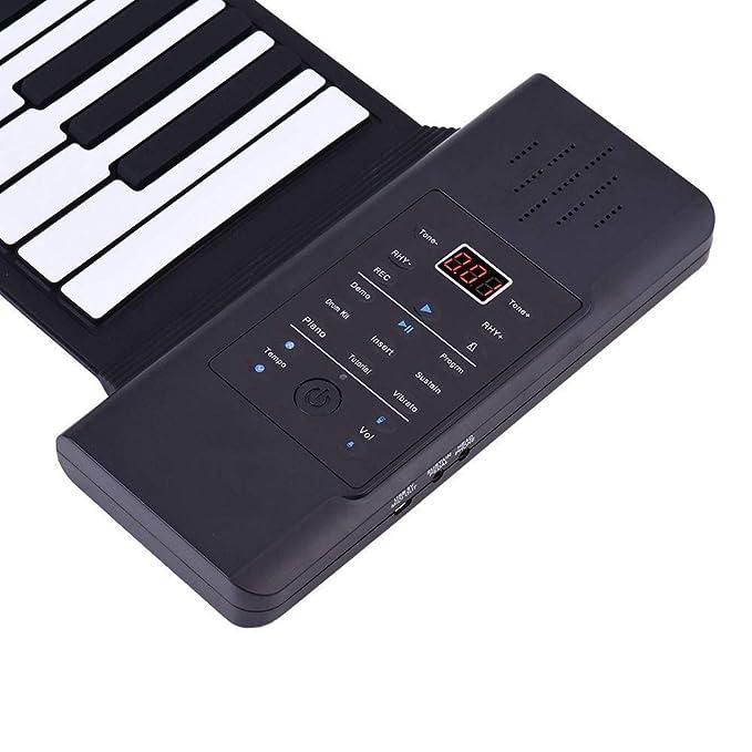 Teclados de pianos para niños Plegable 88 Teclas engrosadas Flexible Silicio Suave Eléctrico Digital Subir Teclado Piano Con grabación Programación ...