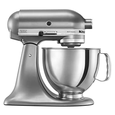KitchenAid KSM150PSCU Artisan Series 5-Qt. Stand Mixer with Pouring Shield - Contour Silver