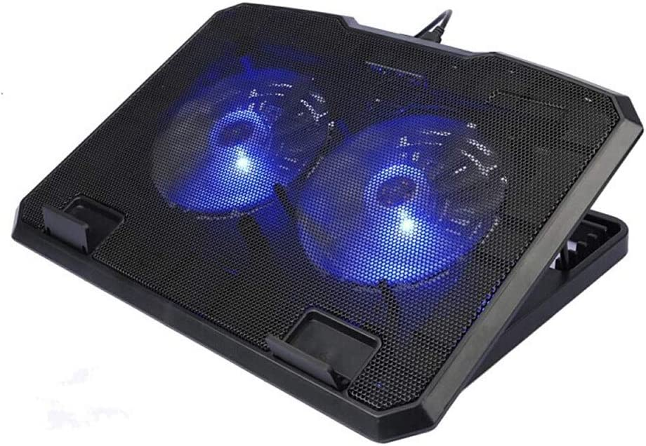Flmn Game Radiator USB Lifting Multi-Angle Adjustment Silent Exhaust Silent Notebook Cooling Base 2 Large Fan Cooling Pad