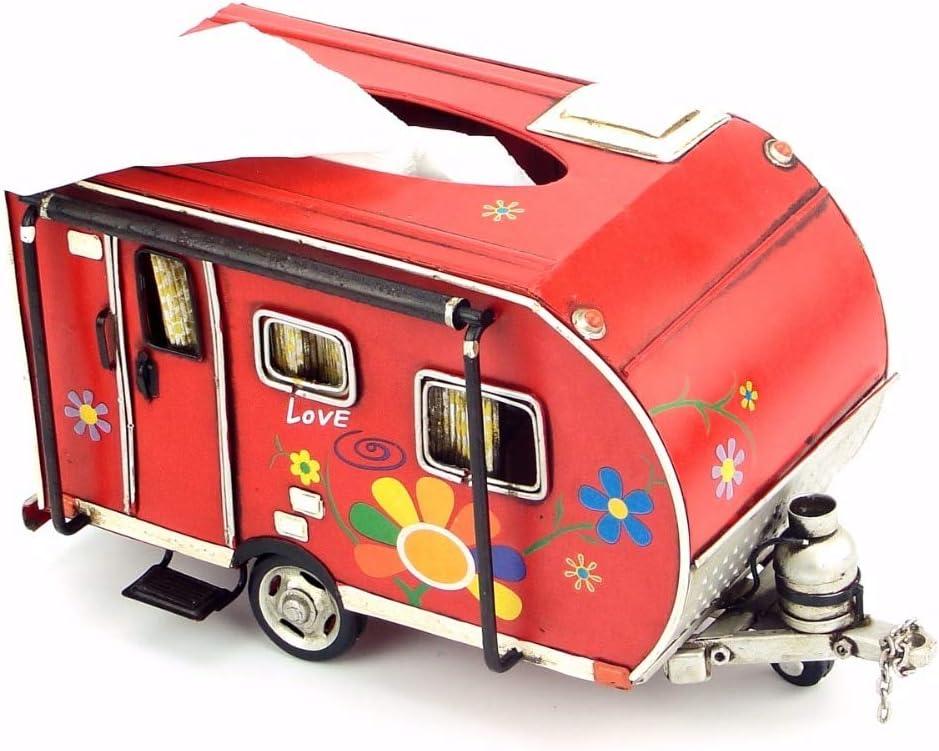 JJLESUN3 Hierro Vintage Decoración del Hogar Caja De Remolque del Coche Caja De Papel Caja De Toalla De Papel Caja De La Artesanía: Amazon.es: Hogar