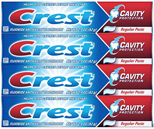 Crest Cavity Protection Regular Toothpaste, 2.9 oz – Pack of 4