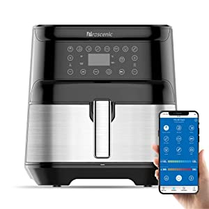 proscenic T21 Smart APP & Alexa Control, XL 5.8QT, 1700 Watt Electric Air Fryers Oven & Oilless Cooker, 8 Cooking Presets, LED Touchscreen, Nonstick Basket, Preheat, Black