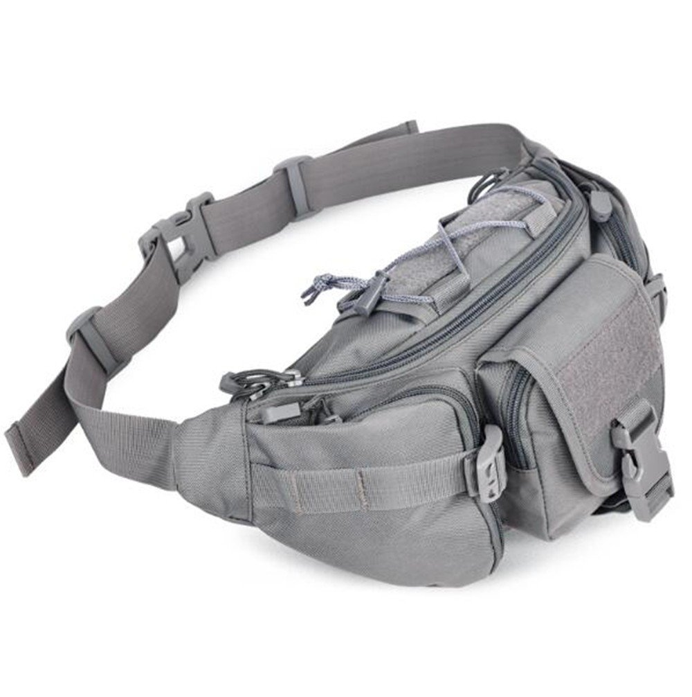 Outdoor Camouflage taktische Taschen Bergsteigen Tasche Männer und Frauen Reiten Taschen Sport Messenger Tasche Handtasche Sport Brusttasche, grau
