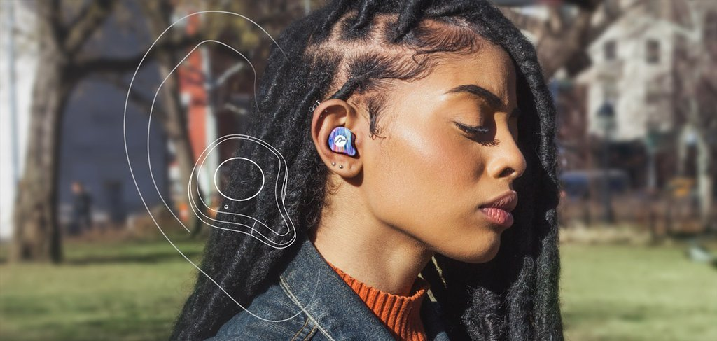 Raycon E70 True Wireless Earbuds Noise Cancelling In-Ear Bluetooth Headphones with Charging Case - Solar Wind