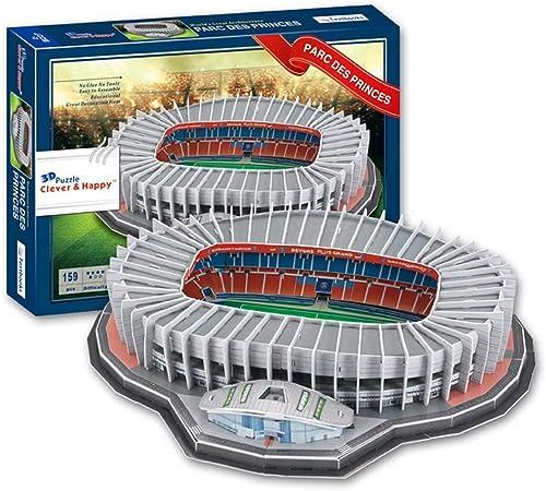 Mankvis 3d Puzzle Prince Park Estadio Modelo Replica Del Estadio Del Paris Saint Germain Futbol Fans Y Aficionados Amazon Es Hogar