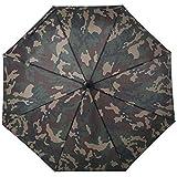 FlyHawk Military Style Umbrella, Automatic Open/Close Foldable Rain Umbrella/UV Protection