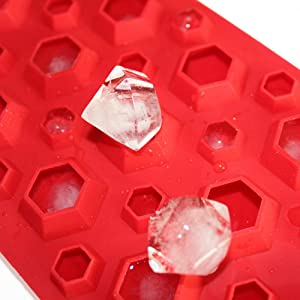 X-Haibei 3D Diamonds Gem Cool Ice Cube Jello Candy Epoxy Plaste Chocolate Silicone Mold