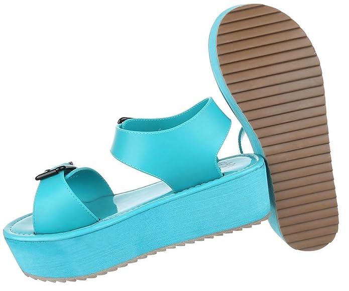 Damen Sandalen Schuhe Sommerschuhe Strandschuhe Moderne Weiß Coral Türkis  36 37 38 39 40 41: Amazon.de: Schuhe & Handtaschen
