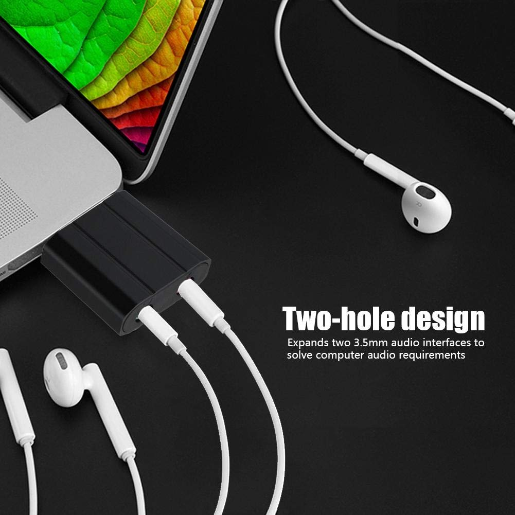 Tangxi USB Audio Adapter Silber externer USB 2.0 auf 3.5mm Stereo Audio Soundkarte Mic Adapter Lautsprecher