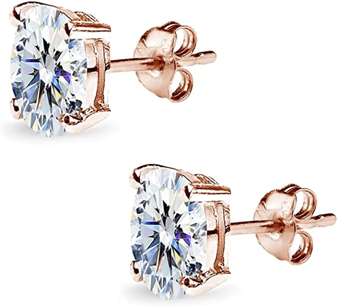 CH2366-1pairs-Gold Plated-32*10mm Special CZ Earrings-Cubic Oval Earrings-Bridal Jewelry-Silver Post
