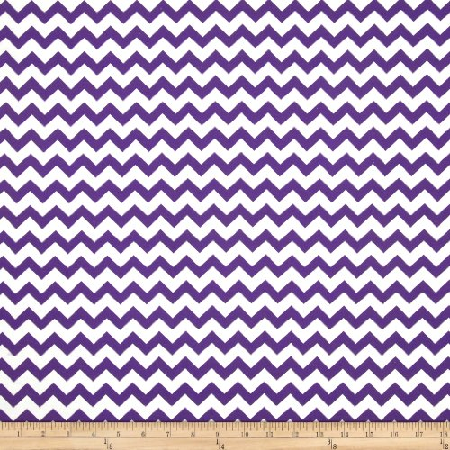 hevron Purple Fabric by The Yard, Purple ()