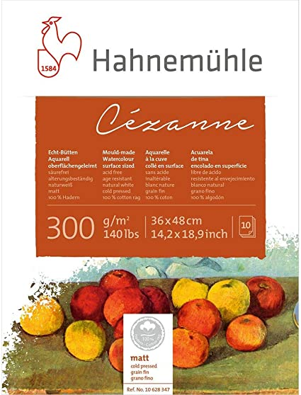 Hahnemuhle Watercolour Paper Cezanne Not 300 Gsm 140lb