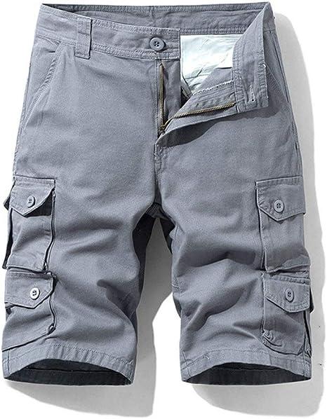 YUFUFU Pantalones Cortos Pantalones Cortos Hombres Algodón Hombre Nuevo Verano Hombres Pantalones con Cremallera Pantalones Cortos Masculinos: Amazon.es: Deportes y aire libre