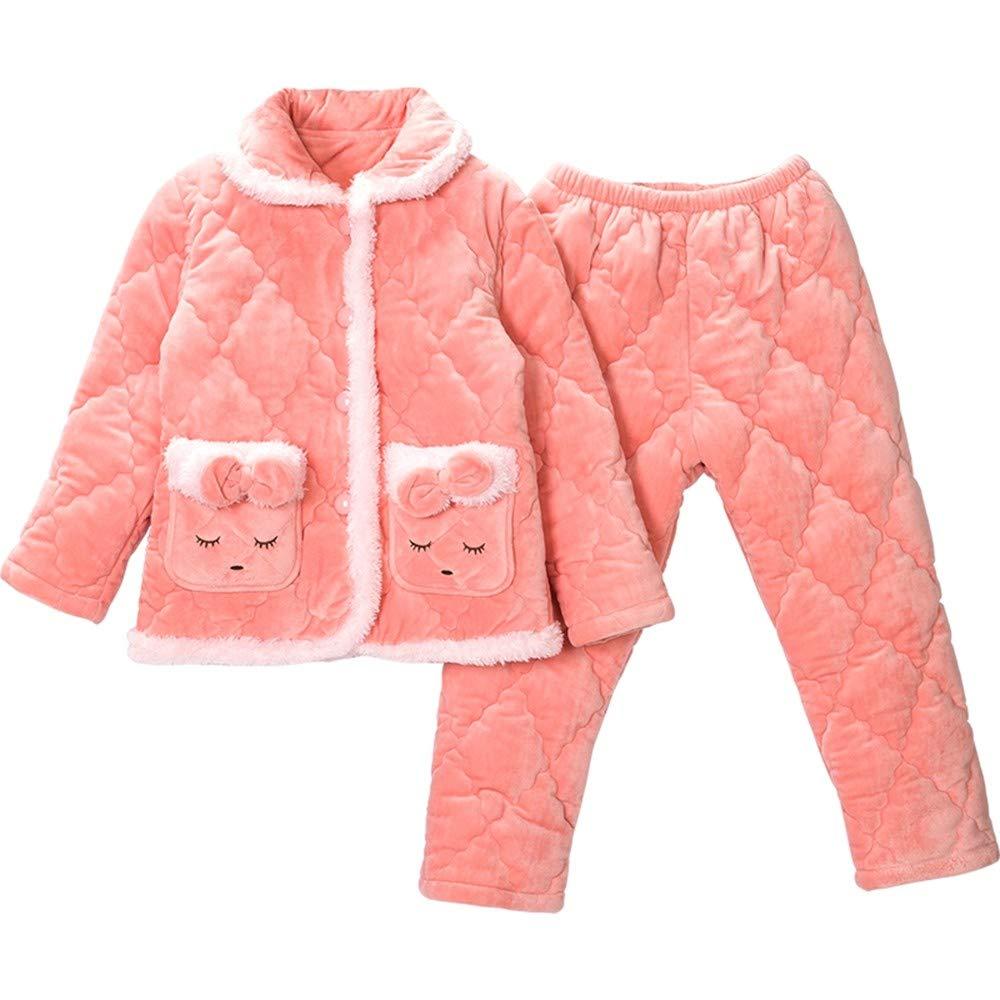 OPPP Pijamas de niños Pijamas para niñas, Franela para niños ...