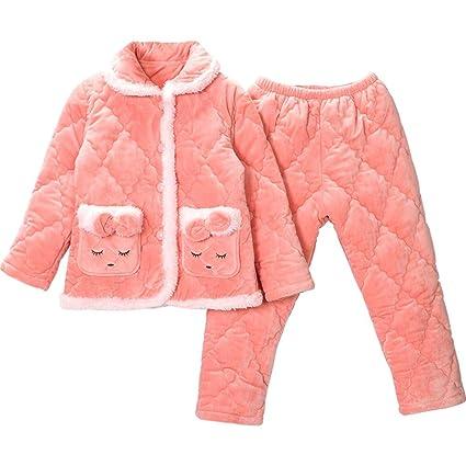 20c0757a7 OPPP Pijamas de niños Niñas Pijamas niños Franela Acolchados ...