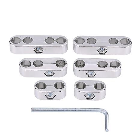 7mm 8mm Separadores de cables Telares Bujías Separadores de cables Divisores Telares (Silver)