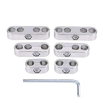 7mm 8mm Separadores de cables Telares Bujías Separadores de cables Divisores Telares (Silver): Amazon.es: Coche y moto