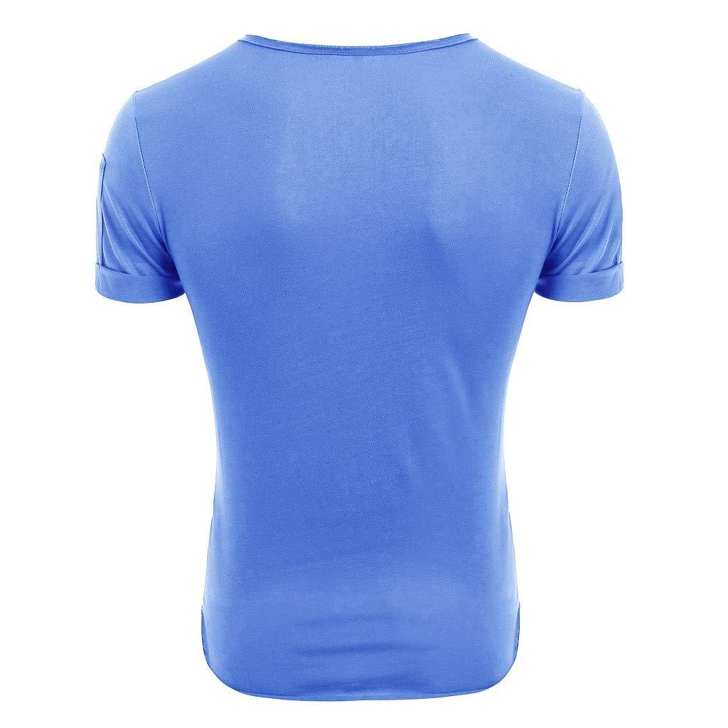 Man Fitness Athletic Short Sleeve Crewneck Zipper Slim Tee Top 4Clovers Sports Shirt