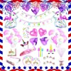 Unicorn Party Supplies set - 238 PCS - 18 Serves | Unicorn Decoration | Tableware | Favors | Balloons | Free Bonus 1