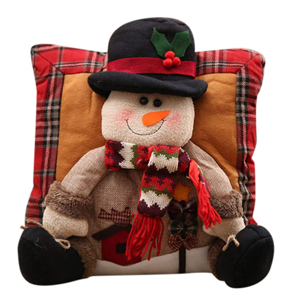Fheaven (TM) Christmas Pillow Christmas Decorations Santa Claus Snowman Family Christmas Legged Pillow (A)