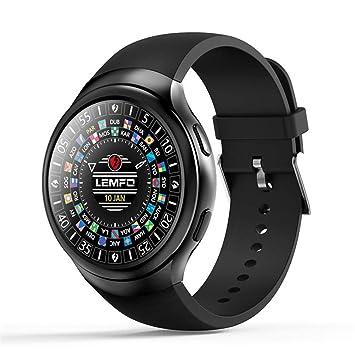 CCYOO LES2 Relojes Inteligentes Smartwatch Android 1GB + 16GB Reloj Reloj Monitor De Ritmo Cardíaco GPS WiFi Bluetooth Reloj De Pulsera,Black: Amazon.es: ...