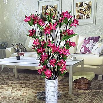 DEFRWA Arreglos Florales Flores secas Living Room Floor Flower Emulation Flores Falsas Arreglo Floral Flor de Seda Decorativa Paquete de Flores de plástico, ...