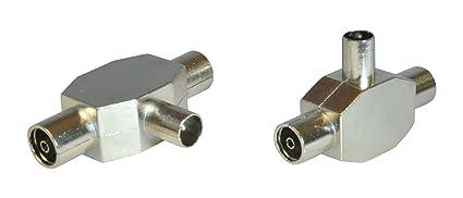 Cable coaxial para antena de 2 way/canal remificadores/Junta 1 x macho y