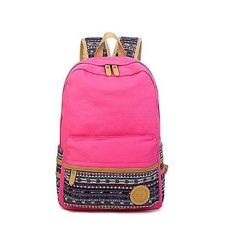 SymbolLife bolsa de la lona viento de universaidad gran calidad mujeres de mochila de los estudiantes