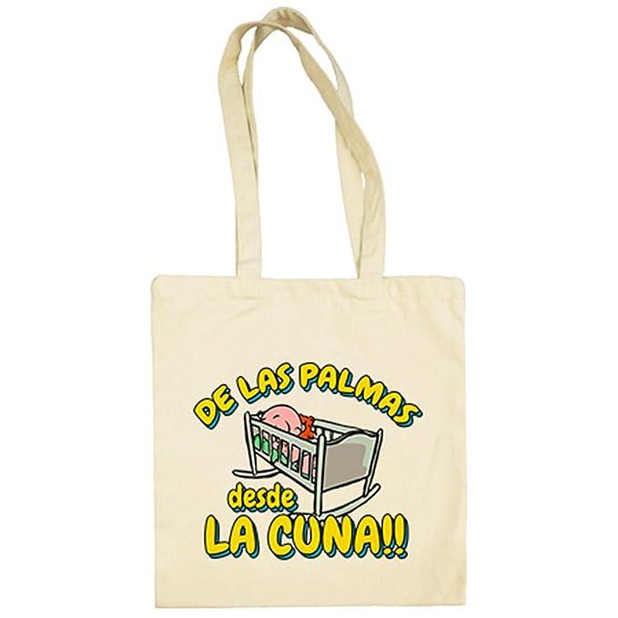 Bolsa de tela de Las Palmas desde la cuna Gran Canaria fútbol - Beige, 38 x 42 cm: Amazon.es: Ropa y accesorios