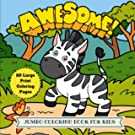 Awesome Jumbo Coloring Book for Kids: 50 Large Animal Coloring Pages (Animal Coloring Book) (Volume 5)