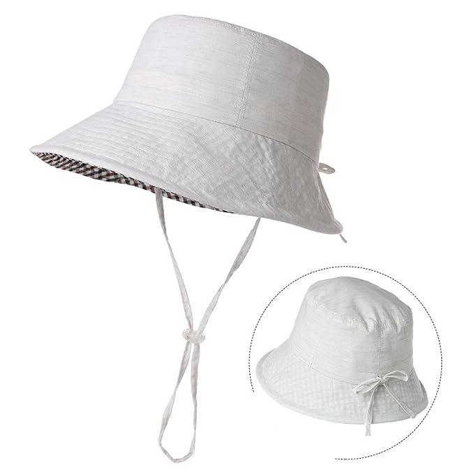 b5219e91 Womens Packable Sun Hat Short Brim Bucket Beach Hiking Protection Fishing  Bonnie SPF Beige