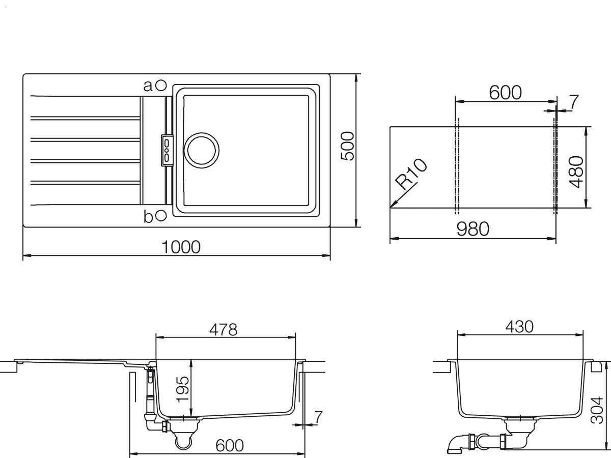 Schock /Évier de cuisine SIGNUS D-100L /Évier Typos C-150
