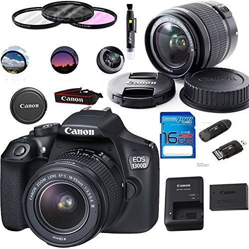 EF-S 18-55mm 18.7MP CMOS 5184 x 3456 Pixels (Black) + Deal-Expo Basic Accessories Bundle (18 Mp Aps)