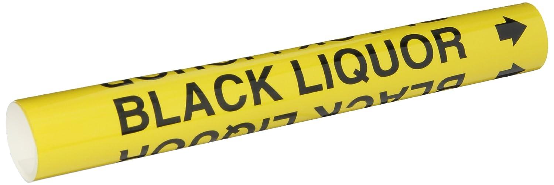 Wrap Around Pipe Marker Brady 5634-O High Performance Legend Black Liquor Legend Black Liquor