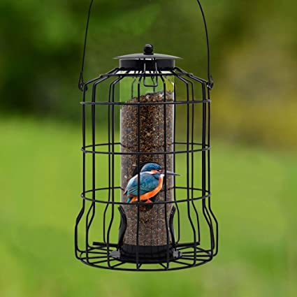 Squirrel Proof Resistant Wild Garden Bird Guard Cage Seed and Peanut Feeders