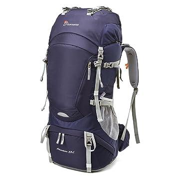 MOUNTAINTOP Mochilas de Senderismo al Aire Libre Impermeable para Viajes Excursiones Acampadas Trekking (Púrpura-55L, 55L): Amazon.es: Deportes y aire libre